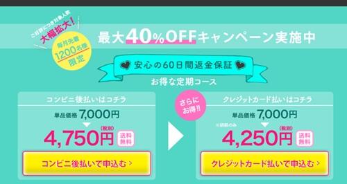 公式サイトの値段